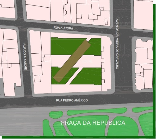 TERRENO LOCALIZADO EM FRENTE A PRAÇA DA REPÚBLICA, NO CENTRO DE SÃO PAULO.